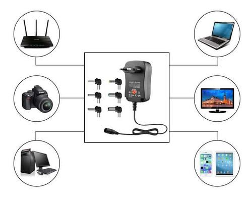 adaptador de corriente universal 12w regulable 3v a 12v