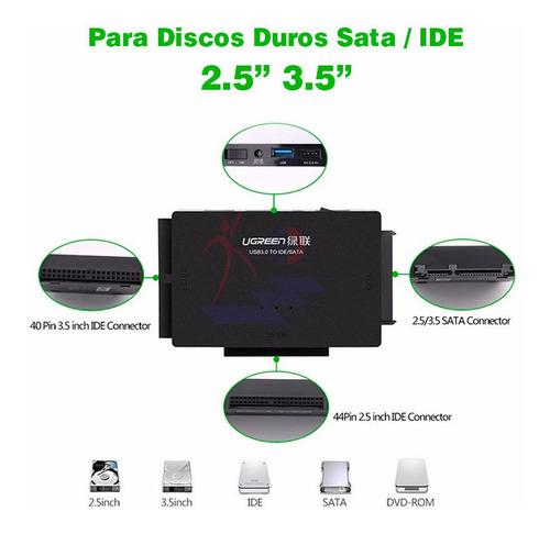 adaptador de disco ugreen usb 3.0 a sata/ide 2.5/3.5''+ adap