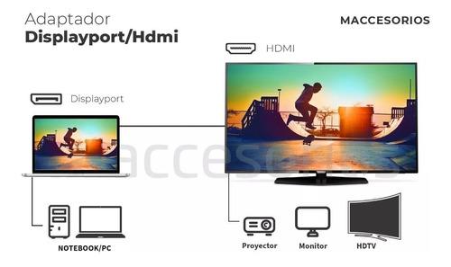 adaptador de displayport a hdmi / display port envio