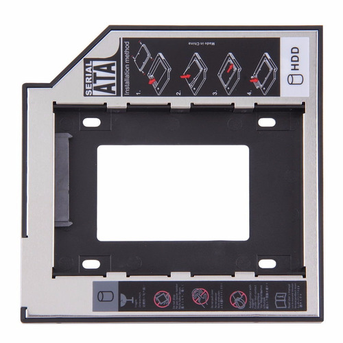 adaptador de dvd para hd / ssd drive caddy notebook 9,5mm