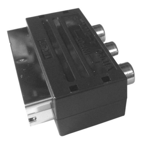 adaptador de euroconector a rca (audio/video) e1032