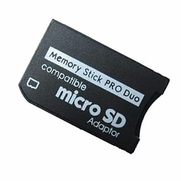 adaptador de memoria micro sd a memory stick pro duo