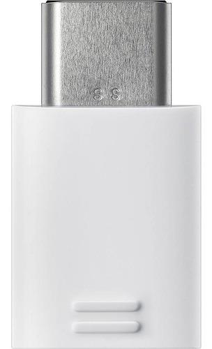 adaptador de micro usb para usb-c original samsung branco