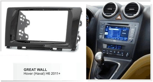 adaptador de radio consola great wall h6  doble din
