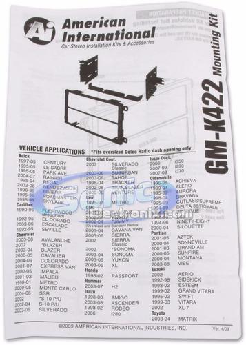 adaptador de reproductor 2 din chevrolet avalanche 03-06