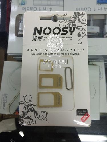 adaptador de sim a micro sim y nano sim noosy! compu vichis