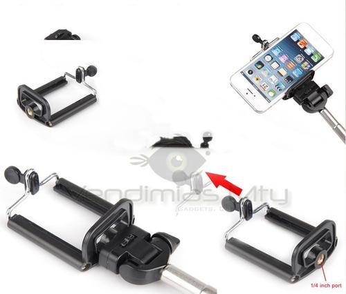 adaptador de smartphone para monopod selfie celular pole