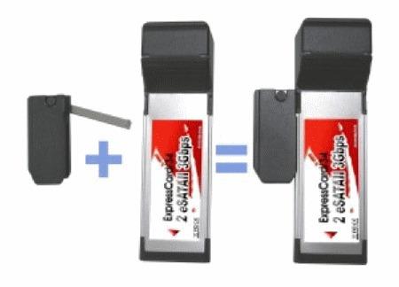adaptador de tarjeta expresscard de 34 mm a ranuras de 54 mm