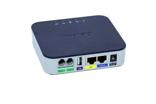 adaptador de teléfono voip obi202 de 2 puertos con soporte d