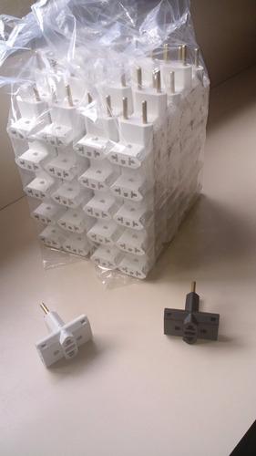 adaptador de tomada (t ou benjamin) 100un