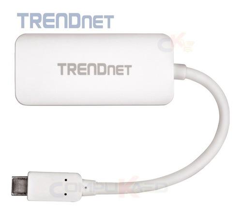 adaptador de usb 3.0 tipo c a vga hd tv trendnet tuc-vga