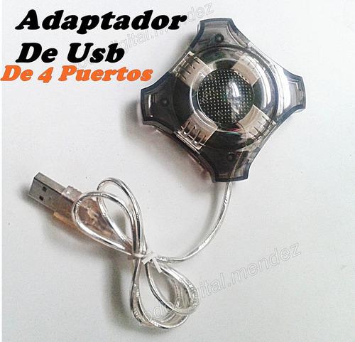 adaptador de usb de 4 puertos
