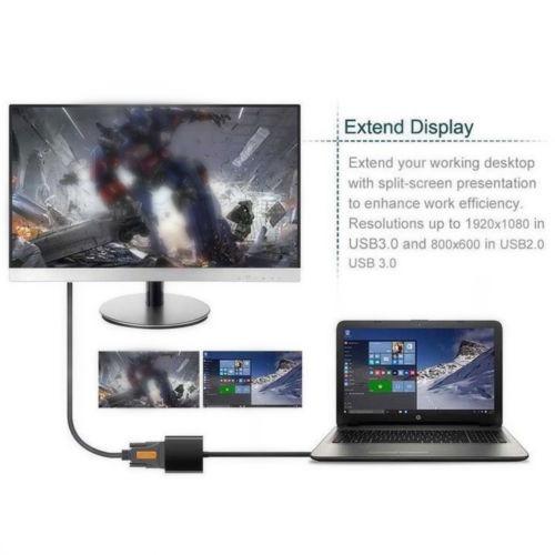 adaptador de video de tarjeta gráfica externa usb 3.0 a vga