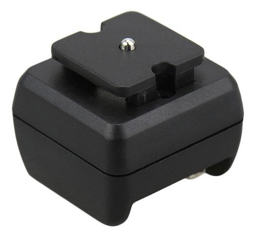adaptador de zapata para flash y cámaras estándar jjc jsc-2