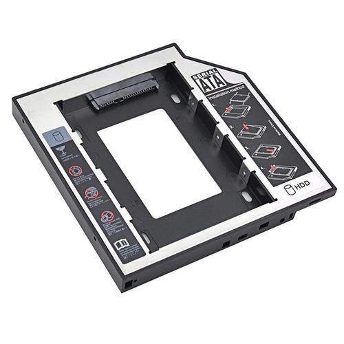 adaptador disco duro laptop 2do disco caddy 12.7mm y 9.5mm
