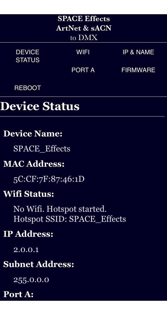 Adaptador Dmx Artnet Wireless (wlan) - Space Effects