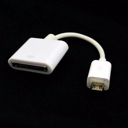 adaptador dock micro usb iphone ipod touch samsung sd gb 4g