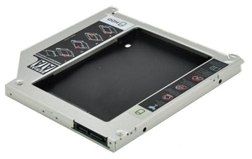 adaptador dvd p/ hd macbook apple caddy 9.5mm sata