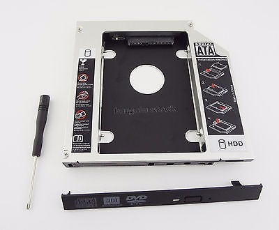 adaptador dvd p/ hd ou ssd notebook drive caddy 12.7 mm sata