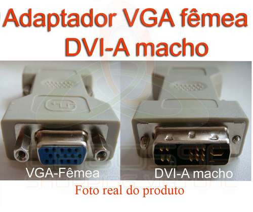 adaptador dvi-a macho x vga femea...para placa de video/moni