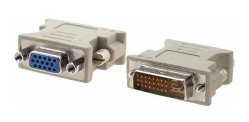 adaptador dvi-i dual link 24+5 pin a  vga  hembra
