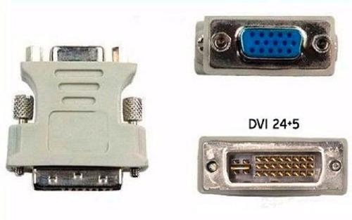 adaptador dvi-i macho 24+5 dual link a vga hembra