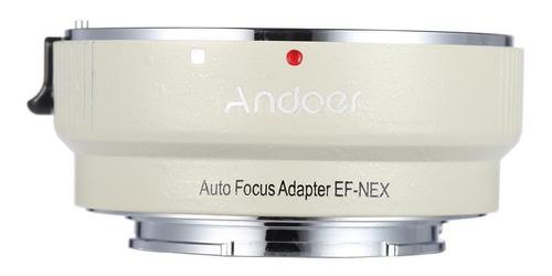 adaptador electronico lente canon a camara sony e-mount a ef