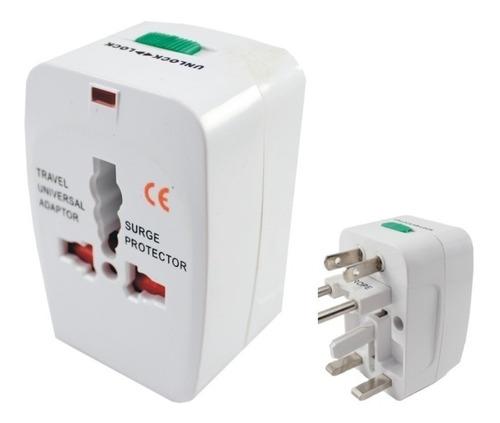 adaptador enchufe universal viajero 110v 220v + cable v8