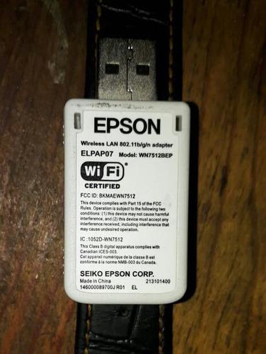 adaptador epson wifi inalambrico elpap07