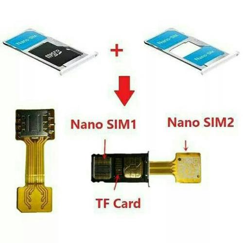 adaptador extension dual sim + sd xiaomi note 3 4 edge s7