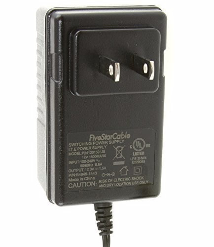 adaptador five star cable ul listed 100-240v ac to 12vdc 1.5