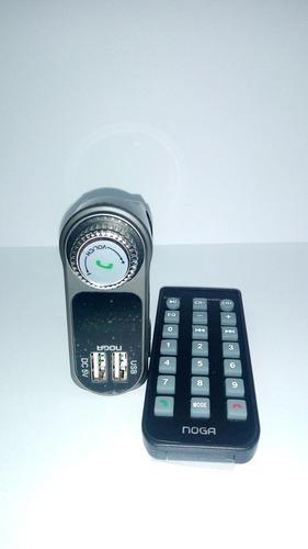 adaptador fm bluetooth mp3 noganet ng 27a 12v usb microsd