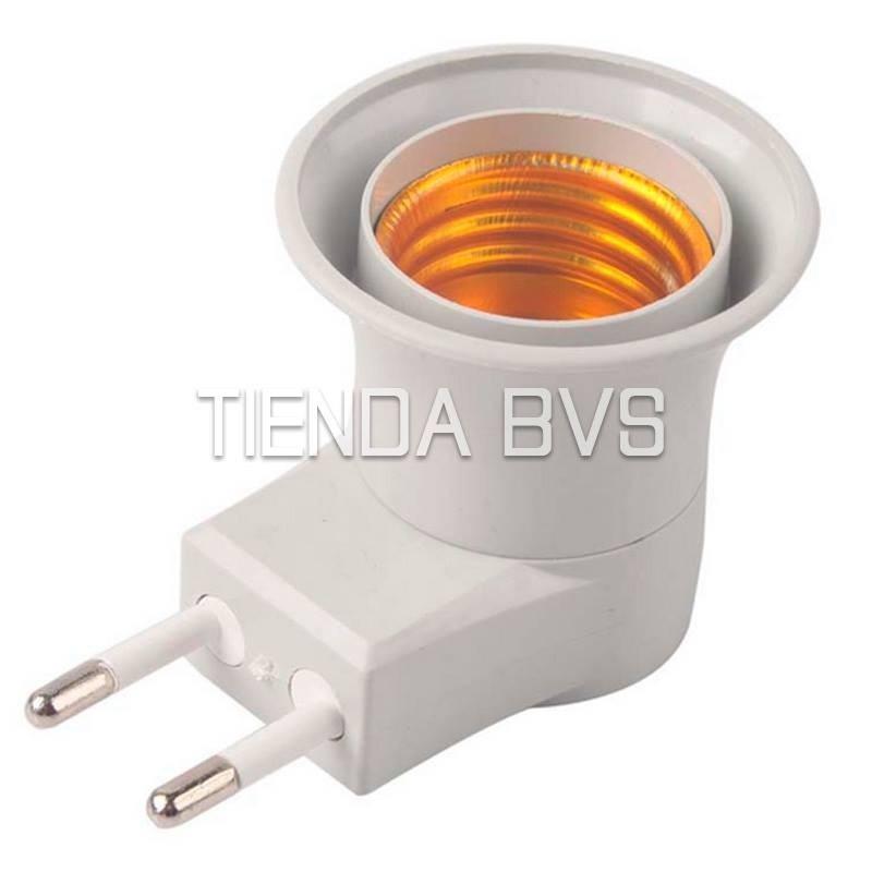 Adaptador foco socket e27 con interruptor y enchufe luz - Enchufe y interruptor ...