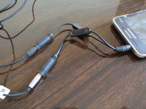 adaptador fones de ouvido 2 em 1 | 2 p2