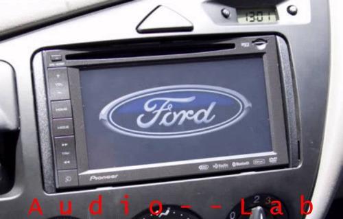 adaptador frente para estereo ford focus 2000-2006 doble din