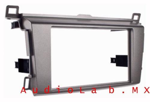 adaptador, frente para estereo toyota rav4 2 din 2013-2015