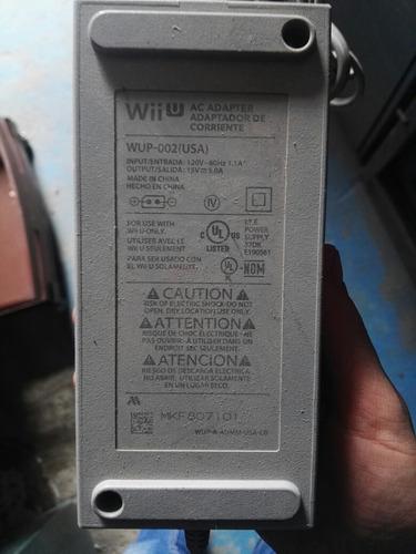 adaptador fuente corriente cargador wii u wup 002 original