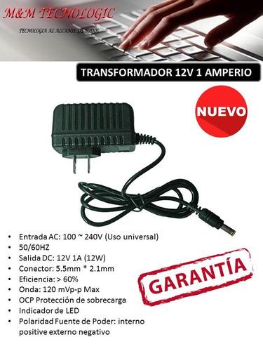 adaptador fuente de poder corriente 12v 1 amp x 10 unidades