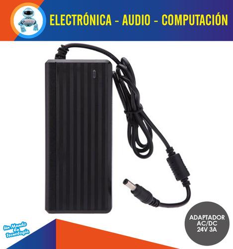 adaptador fuente de poder corriente 24v 3a switch modem