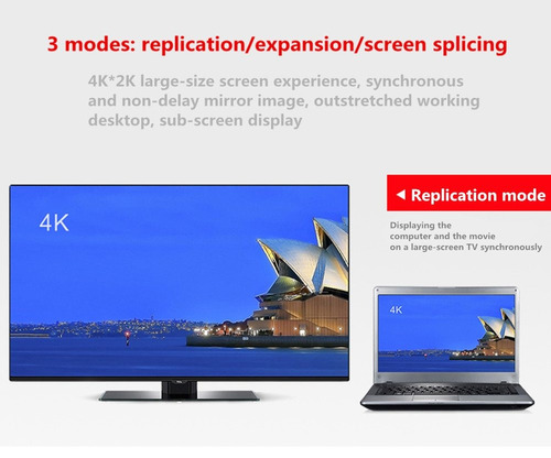 adaptador fueran hdmi - modo activo mini displayport 1.2 a h