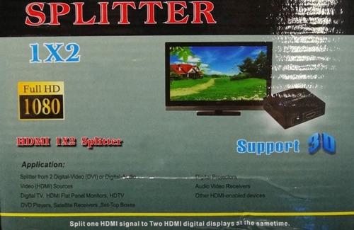adaptador hdmi 1.4 splitter duplicador 2x monitor full hd 3d