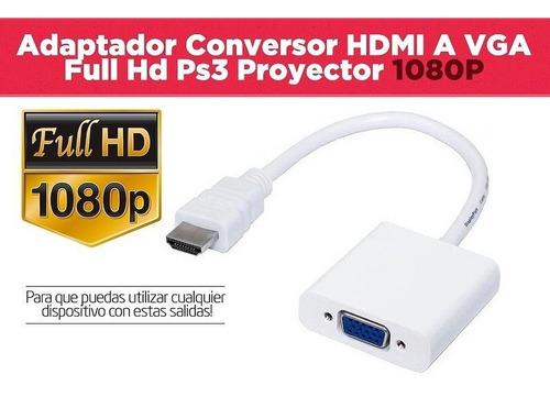 adaptador hdmi a vga con audio notebook pc proyector