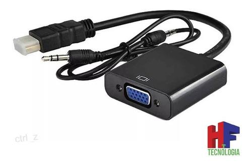 adaptador hdmi a vga con audio pc ps3 1080p 60hz hf moron