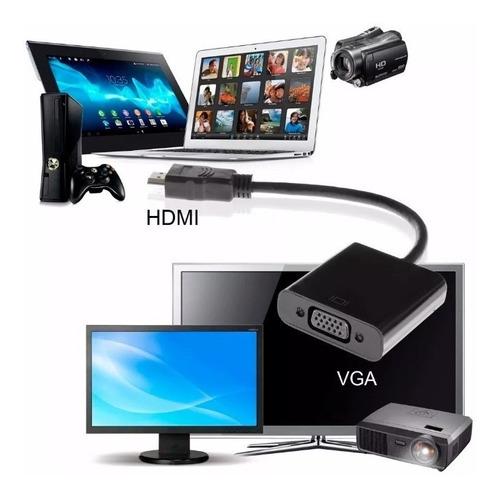 adaptador hdmi a vga kolke proyector monitor pc notebook