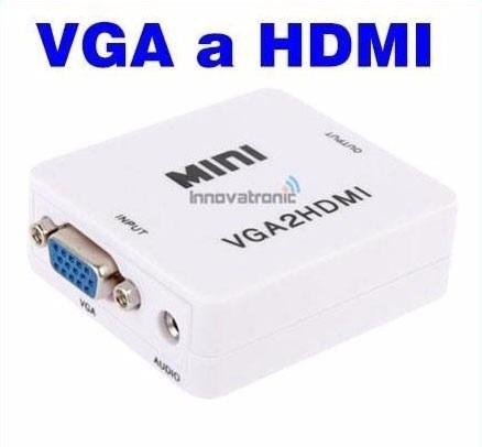 adaptador hdmi a vga . vga hdmi c/audio + micro mini hdmi