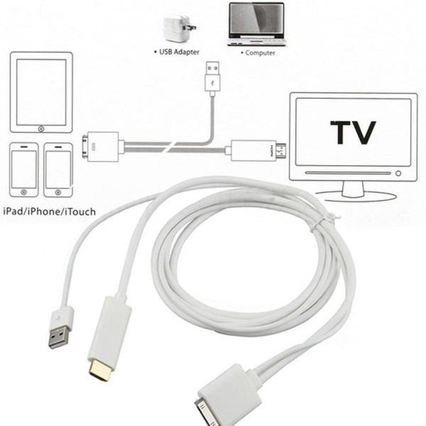 Adaptador hdmi con cargador ipad 2 3 iphone 4 ipod4 g - Precio cable tv ...