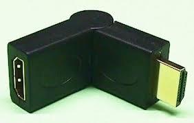 adaptador hdmi m h  de macho a hembra ajustable 90° a 180°
