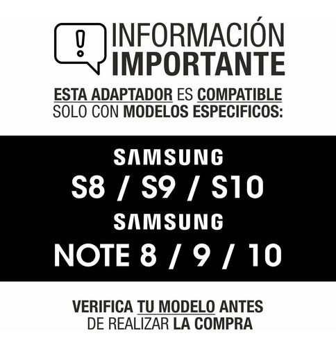 adaptador hdmi samsung s10 s10e s9 plus note 10 dex station