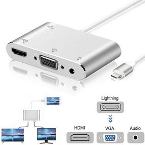 0112969f2c2 Adaptador Hdmi, Vga, Apple iPhone 6 7 8 X iPhone/iPad