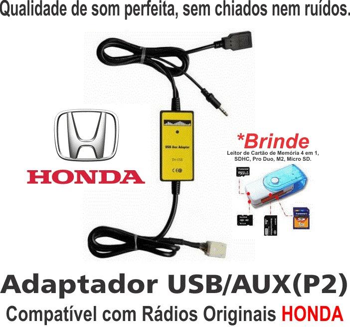 Adaptador Interface Usb Aux Honda